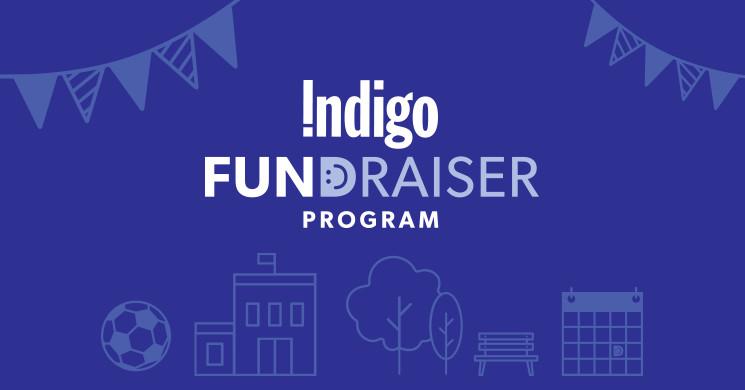 Indigo Fundraiser graphic - English