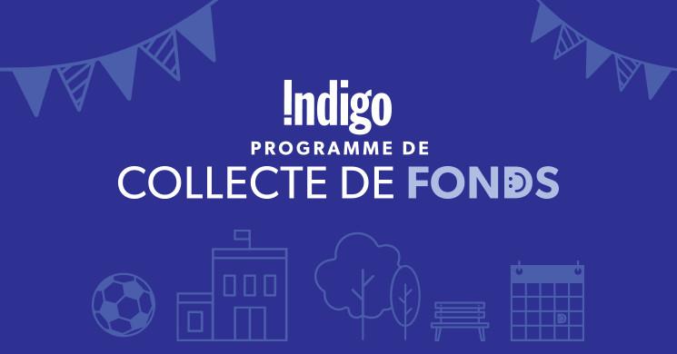 Indigo Fundraiser graphic - French